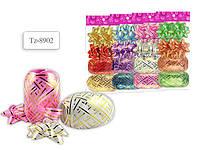 Набор для декорирования подарков Tukzar 4 банта + 2 ленты (5мм*10м) Tz-8926/8920/8902/8908