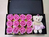 Подарочный Набор-Мыло .Большой красивый медвежонок+ Лепестки роз !