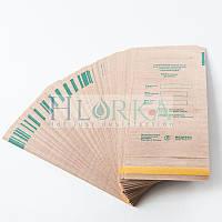 Крафт пакеты 75х150 для паровой, воздушной стерилизации с индикатором самоклеющ. (100 шт/уп) Медтест