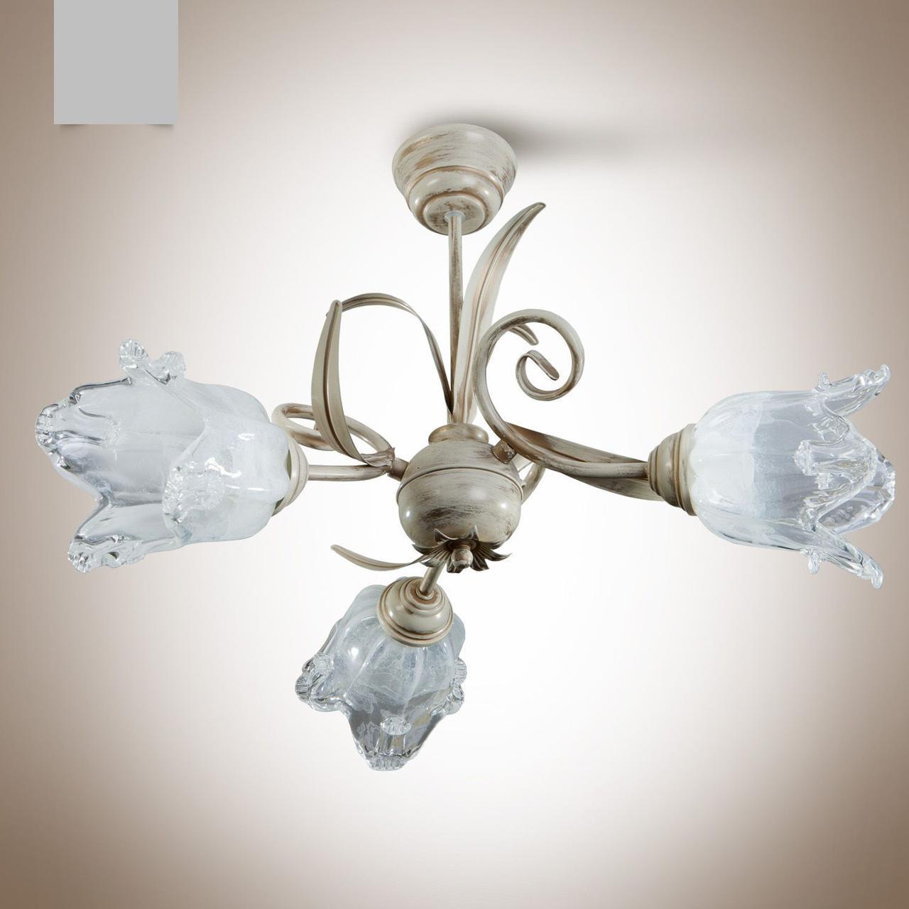 Люстра в стиле флористика для спальни, для зала 3-х ламповая  213-4