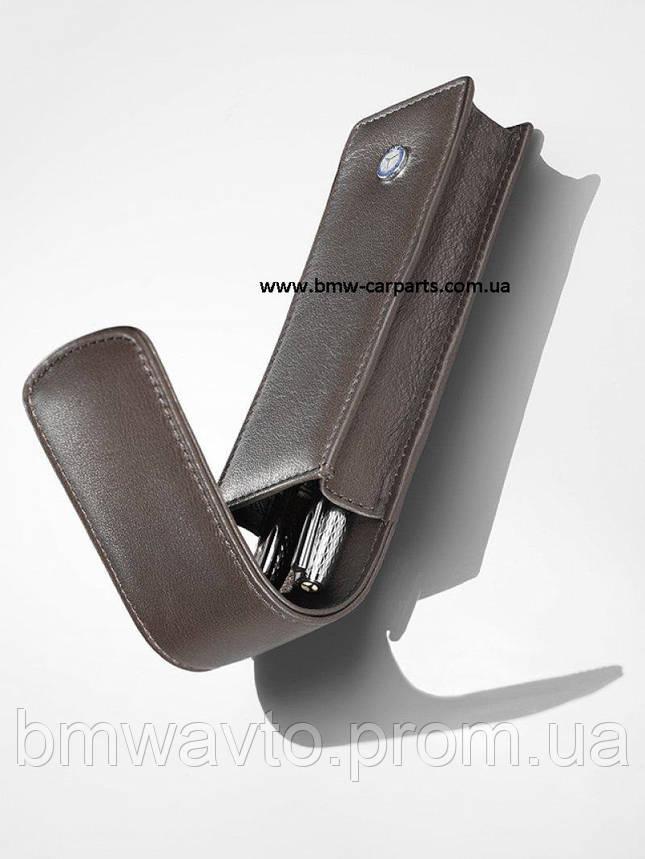 Кожаный футляр для ручек Mercedes-Benz Pen Case, Vintage Star, фото 2