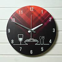 "Часы настенные на кухню - ""Вино"" (на пластике)"
