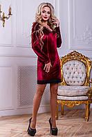 Платье прилегающего силуэта из велюрового трикотажа, с фигурными рельефами