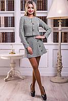 Стильный, удобный костюм, состоящий из юбки трапециевидной формы и пиджака