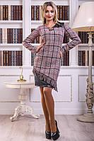 Платье полуприлегающего силуэта из буклированной ткани