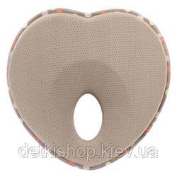 Подушка для новонароджених «Lovenest» (коричнева)