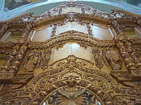 Иконостас натуральное дерево,стиль Барокко,лакированный под Дуб, фото 1
