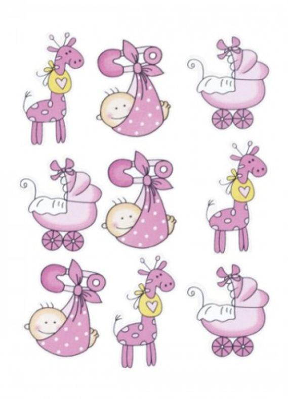 Набор декоративных элементов Knorr Prandell Детский-1, розовый 9шт. 216930207