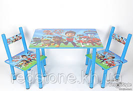 Набор детской деревянной мебели Столик + 2 стульчика PAW Patrol Щенячий патруль BAMBI