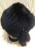 Чорна жіноча кубанка з песця барбара, фото 4