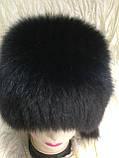Чорна жіноча кубанка з песця барбара, фото 6