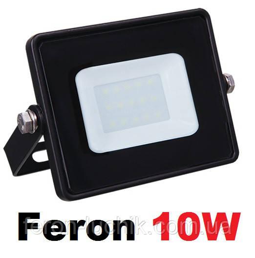 Светодиодный LED прожектор 10W IP65  6400K Feron LL-991 черный