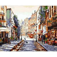 Картина раскраска по номерам на холсте 40*50см Babylon VP776 Париж Утро после дождя