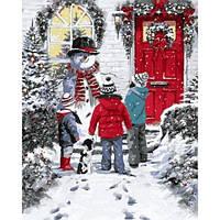 Картина раскраска по номерам на холсте 40*50см Babylon VP783 Рождественская сказка