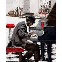 Картина раскраска по номерам на холсте 40*50см Babylon VP794 Блюз зимнего вечера