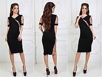 Платье вставки пайетки, разные цвета, размеры Норма, Батал.