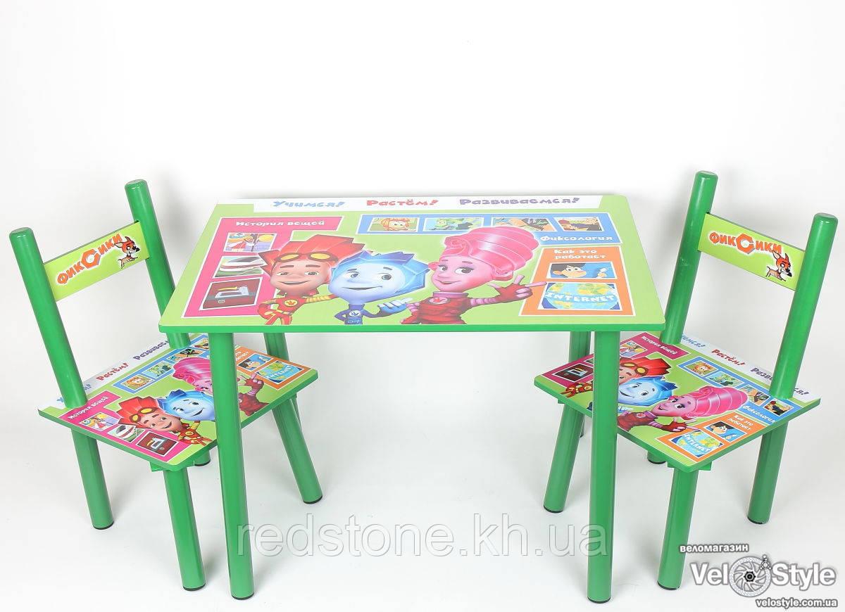 Набор детской деревянной мебели Столик + 2 стульчика Фиксики BAMBI