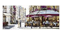 Картина раскраска по номерам на холсте 50*50см набор 3шт Babylon VPT028 Триптих Полдень в Париже
