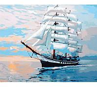 Картина раскраска по номерам на холсте 40*50см Babylon Premium NB050 Парусник Паллада