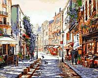 Картина раскраска по номерам на холсте 40*50см Babylon Premium NB776 Париж Утро после дождя