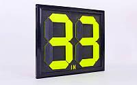Табло замены игроков  (2x2, металл, пластик, р-р 44x39см, двухсторонее, универсальное)