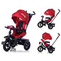 Детский трехколесный велосипед с поворотным сиденьем Tilly cayman T-381, красный