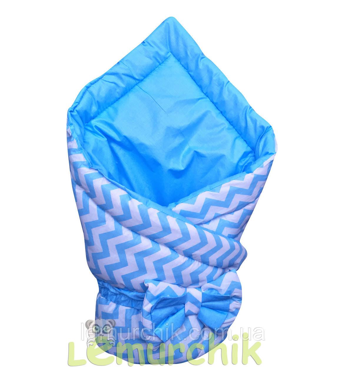 """Конверт-одеяло двухсторонний для новорожденных на выписку и в коляску на синтепоне Lari """"Цвет 1"""""""