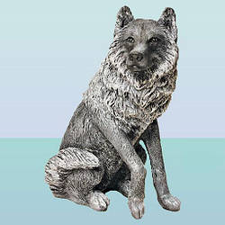 Садовая фигура, скульптура для сада Волк