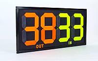 Табло замены игроков  (2x2, металл, пластик, р-р 83x38см, двухсторонее, универсальное)