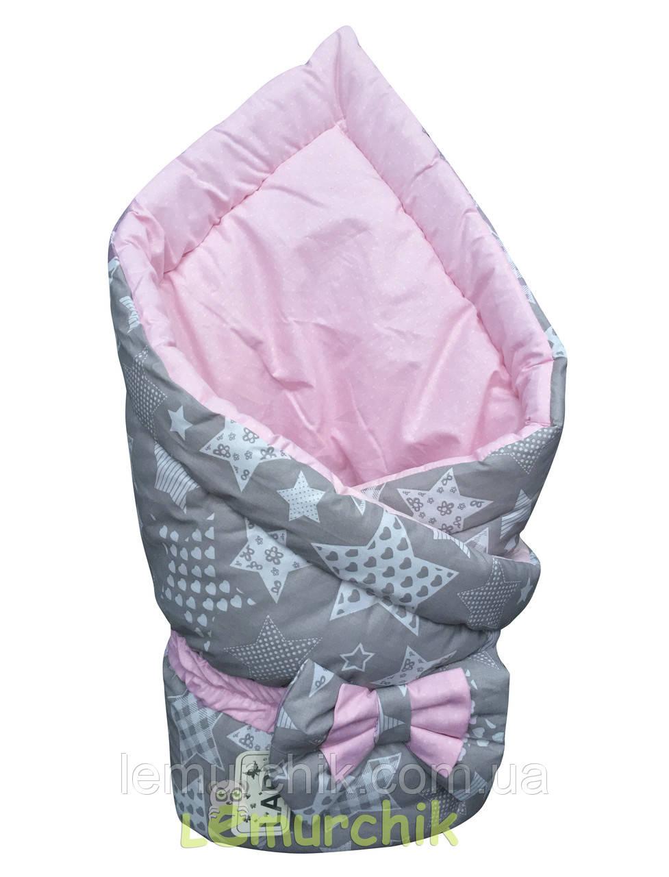 """Конверт-одеяло двухсторонний для новорожденных на выписку и в коляску на синтепоне Lari """"Цвет 2"""""""