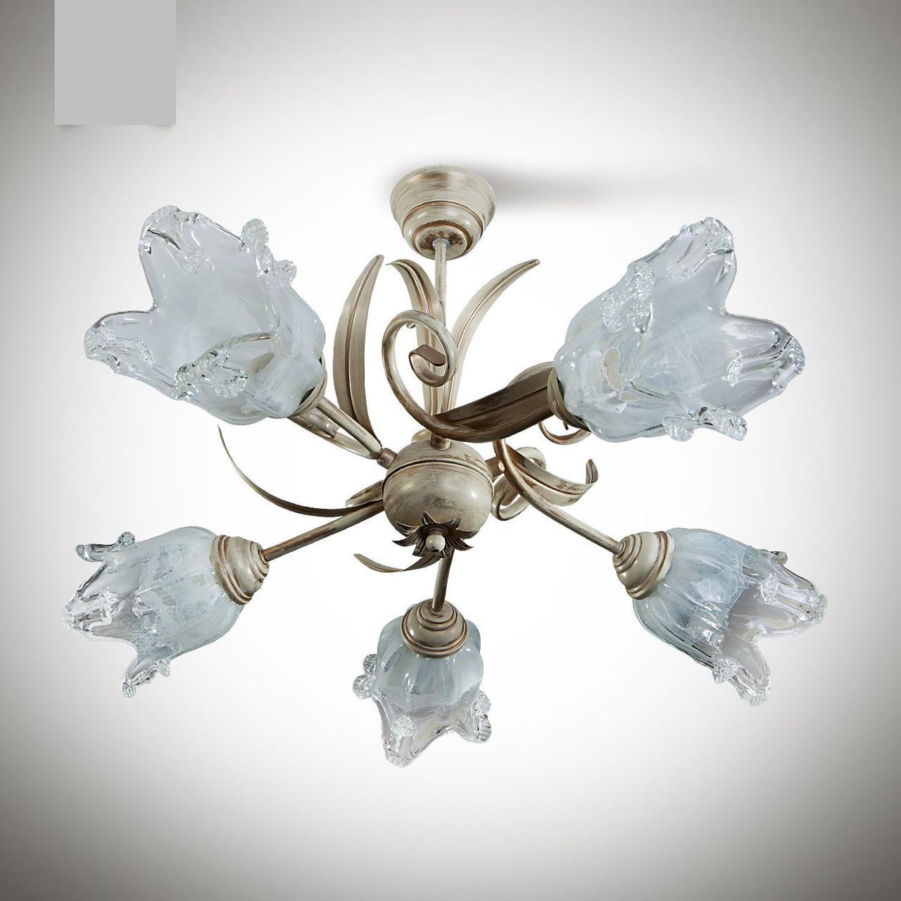 Люстра в стиле флористика для спальни, для зала 5-ти ламповая 215-4