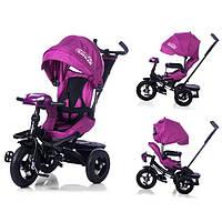Дитячий триколісний велосипед з поворотним сидінням Tilly cayman T-381, фіолетовий