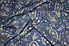 Ткань джинс тонкий лето турецкие огурцы синий