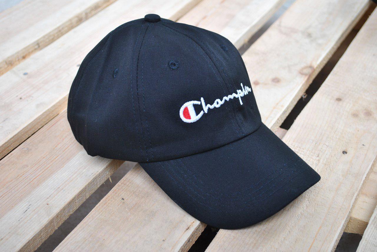 Кепка Бейсболка Champion Black - Інтернет-магазин одягу та аксесуарів