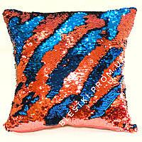 Подушка для детской из пайеток, можно рисовать