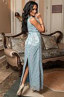 Вечернее длинное платье Onisiya  с бисером (2 цвета) 141 (582)
