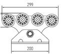Комплект СПЧ-7 с не оцинкованной шиной, пластиковыми роликами