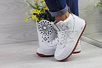 Nike Lunar Force 1 женские стильные кроссовки артикул 4359 белые