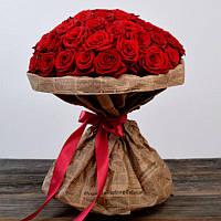 Букет из 51 красной розы 80 см