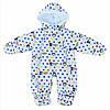 Детский комбинезон, весенний человечек Микки Маус для мальчика (белый). Р-р 62/68 (0-6 мес)