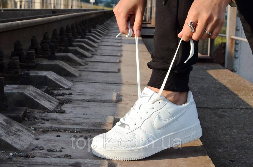 Кроссовки   Аир форс   белые стильные популярные (Код: 8а)