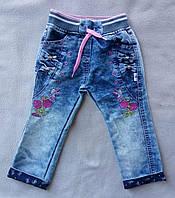 Детские джинсы для девочек 2-4 года