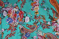 Ткань Лен турецкие огурцы, фото 1