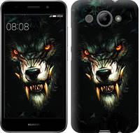 """Чехол на Huawei Y3 2017 Дьявольский волк """"833c-991-9279"""""""