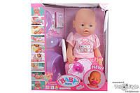 Пупс Baby Born Беби Борн с аксессуарами №11 (плачет,кушает,пьёт,ходит на горшок...)