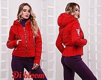 Женская стильная куртка с молниями и нашивкой, в расцветках, р-р 42-50