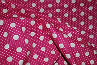 Ткань принт рубашка горох