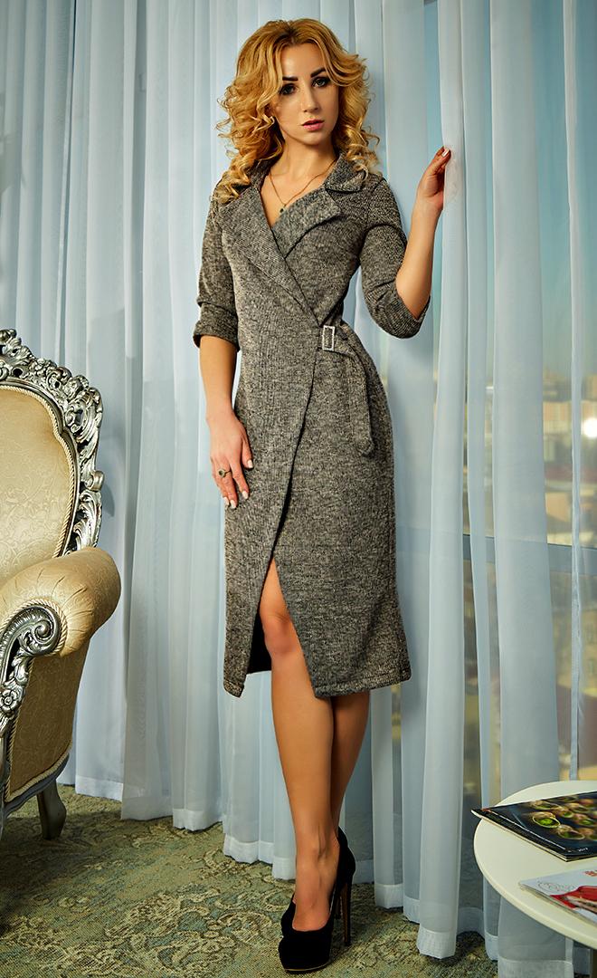 8ac2157c53c Трикотажное платье-пиджак