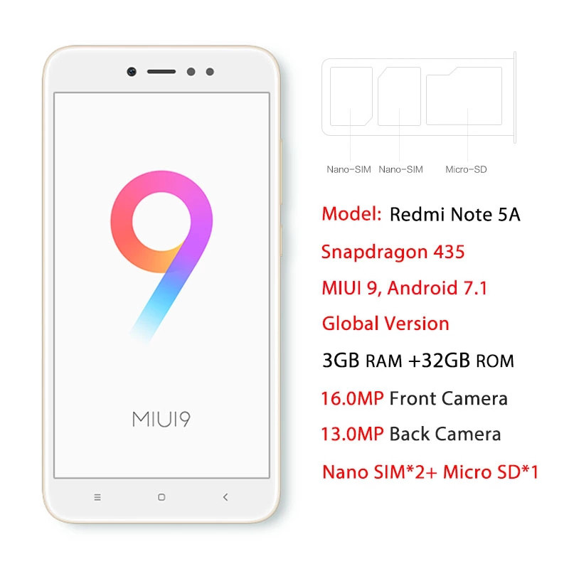 Xiaomi Redmi Note 5A Prime 3GB/32GB Gold: продажа, цена в