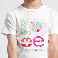 Детские фтболки, любовь love